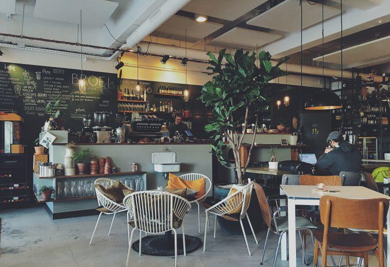 一間cafe的一個角落