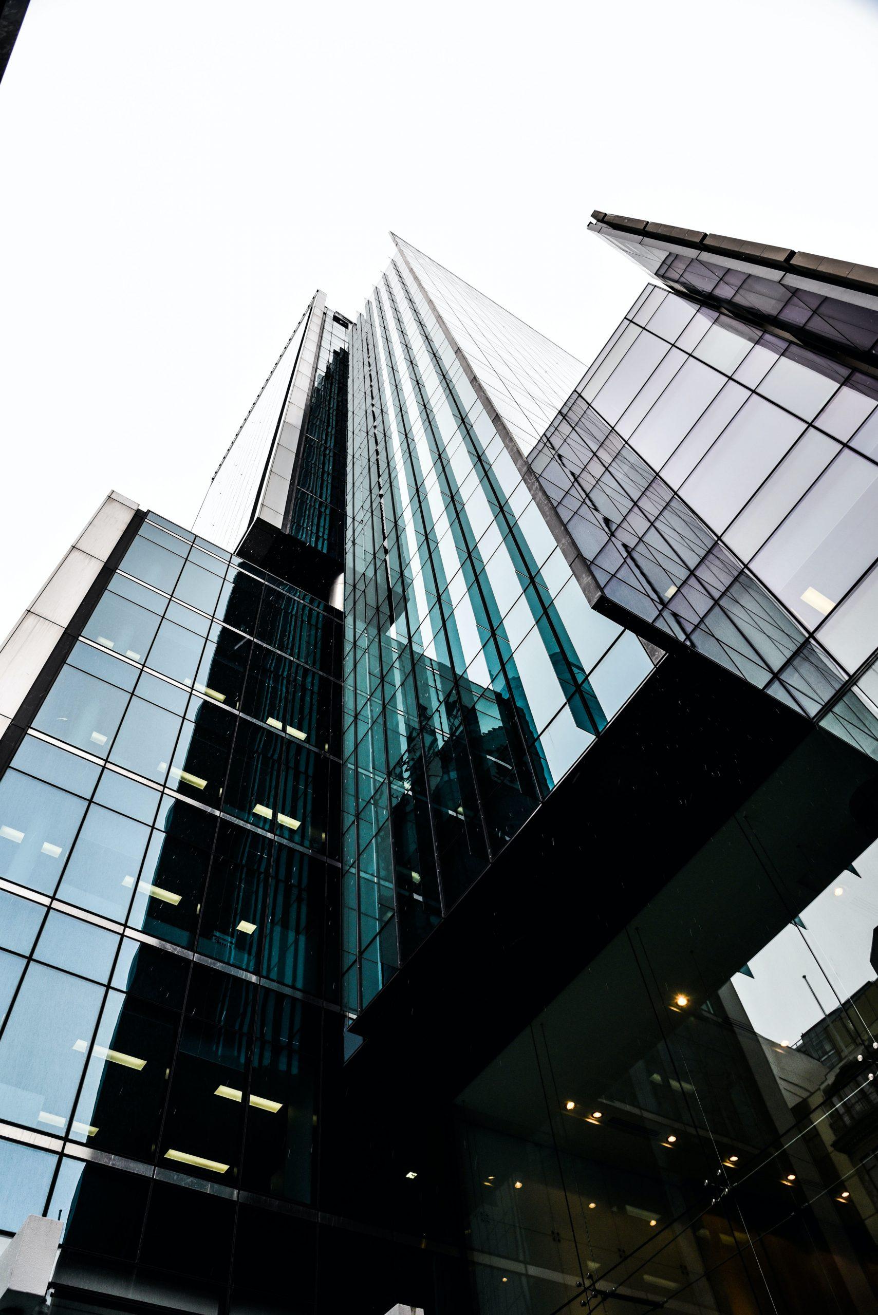 市區工作大樓仰視圖