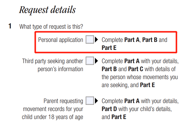 Request details